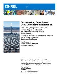 Concentrating Solar Power Gen3 Demonstration Roadmap