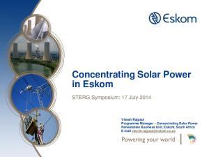 Concentrating Solar Power in Eskom