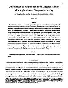 Concentration of Measure for Block Diagonal Matrices with Applications to Compressive Sensing