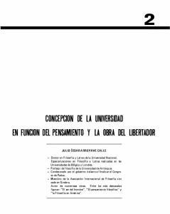 CONCEPCION DE LA UNIVERSIDAD