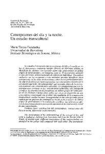Concepciones del dia y la noche. Un estudio transcultural