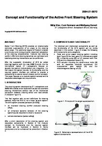 Concept and Functionality of the Active Front Steering System