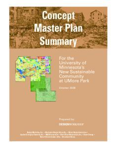 Concept Master Plan Summary