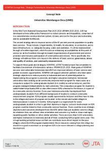 Concept Note. Universitas Membangun Desa (UMD)