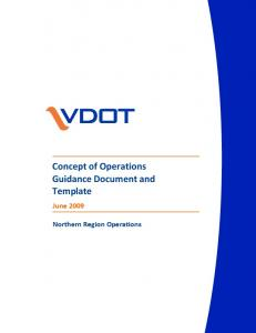 Concept of Operations Guidance Document and Template
