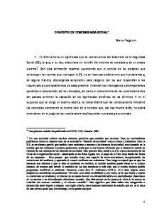 CONCEPTO DE CONTINGENCIA SOCIAL