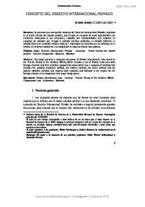 CONCEPTO DEL DERECHO INTERNACIONAL PRIVADO