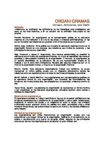 Concepto Objeto de los organigramas Utilidad de los organigramas