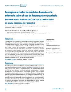 Conceptos actuales de medicina basada en la evidencia sobre el uso de fototerapia en psoriasis