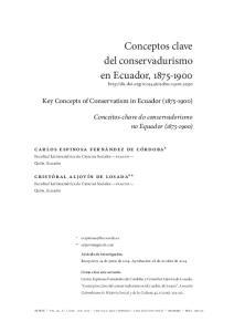 Conceptos clave del conservadurismo en Ecuador,