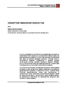 CONCEPTOS FAMACOCINETICOS EN TIVA
