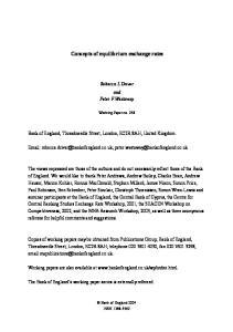 Concepts of equilibrium exchange rates