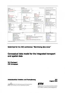 Conceptual data model for the integrated transport and spatial data