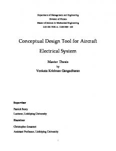 Conceptual Design Tool for Aircraft. Electrical System