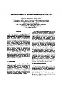 Conceptual Framework for Business Process Engineering: Case Study
