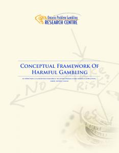 Conceptual Framework Of Harmful Gambling