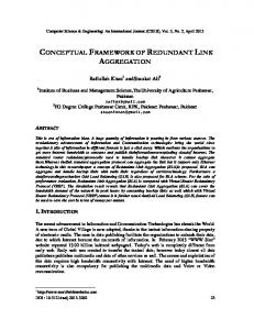 CONCEPTUAL FRAMEWORK OF REDUNDANT LINK AGGREGATION