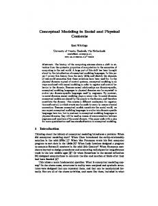 Conceptual Modeling in Social and Physical Contexts
