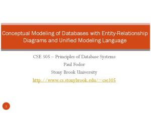 Conceptual Modeling of Databases with Entity-Relationship Diagrams and Unified Modeling Language
