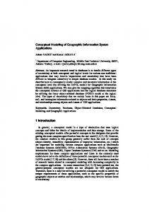 Conceptual Modeling of Geographic Information System Applications