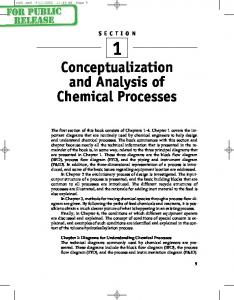 Conceptualization and Analysis of Chemical Processes