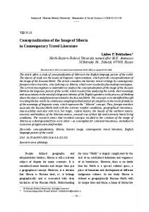 Conceptualization of the Image of Siberia in Contemporary Travel Literature