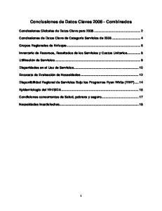 Conclusiones de Datos Claves Combinados