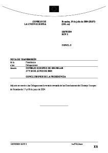 Conclusiones de la Presidencia - Bruselas, 17 y 18 de junio de 2004