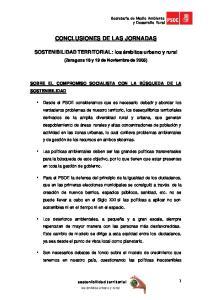 CONCLUSIONES DE LAS JORNADAS