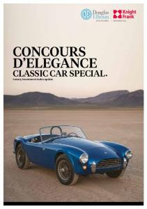 CONCOURS D ELEGANCE. CLASSIC CAR SPECIAL Luxury Investment Index update