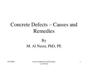 Concrete Defects Causes and Remedies