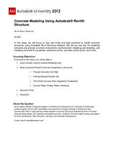 Concrete Modeling Using Autodesk Revit Structure
