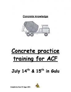 Concrete practice training for ACF