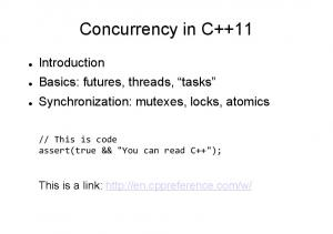 Concurrency in C++11