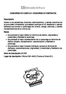 CONCURSO DE COSPLAY: CONCURSO DE DISFRACES