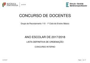 CONCURSO DE DOCENTES