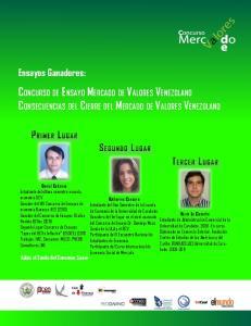 Concurso de Ensayo Mercado de Valores Venezolano Consecuencias del Cierre del Mercado de Valores Venezolano