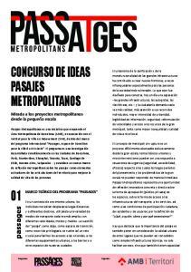 CONCURSO DE IDEAS PASAJES METROPOLITANOS