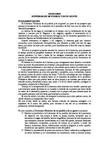 CONCURSO HISTORIAS DE MI PUEBLO Y DE SU GENTE