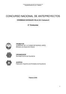 CONCURSO NACIONAL DE ANTEPROYECTOS