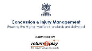Concussion & Injury Management