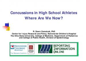 Concussions in High School Athletes Where Are We Now?