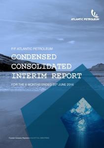CONDENSED CONSOLIDATED INTERIM REPORT