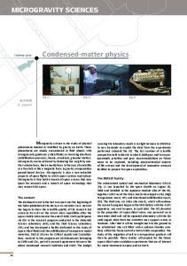Condensed-matter physics