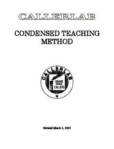 CONDENSED TEACHING METHOD