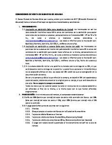 CONDICIONES DE VENTA DE SUBASTAS DE ADUANA