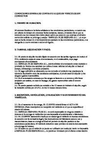 CONDICIONES GENERALES CONTRATO ALQUILER VEHICULOS SIN CONDUCTOR