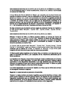 CONDICIONES GENERALES DE APERTURA DE CUENTA A LA VISTA
