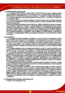 CONDICIONES GENERALES DE COMPRA