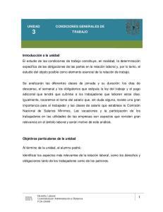 CONDICIONES GENERALES DE TRABAJO